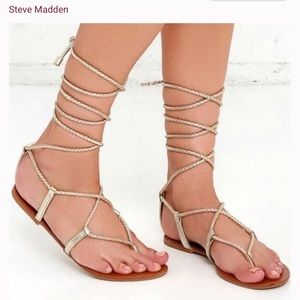 Steve Madden Shoes - Strappy gold sandals